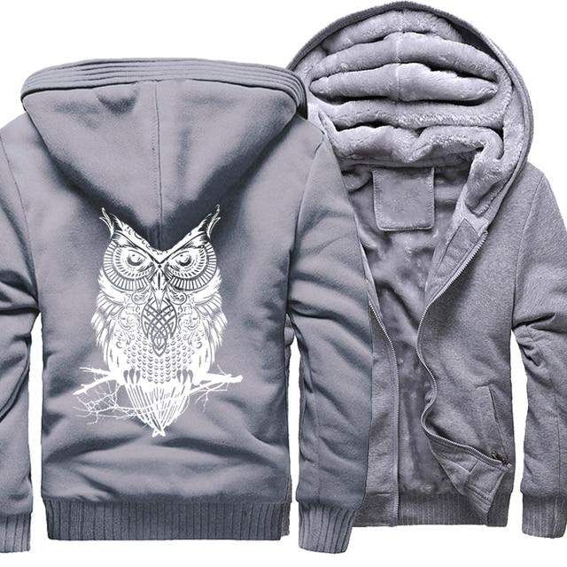 Winter Hoodie For Men Fleece Thick Sweatshirt  1