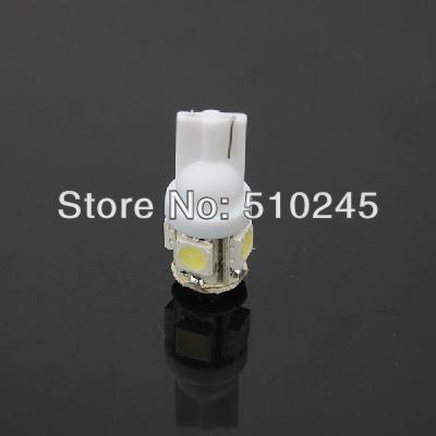100X Free shipping Car Auto LED T10 194 W5W 5 led smd 5050 Wedge LED Light Bulb Lamp 5SMD