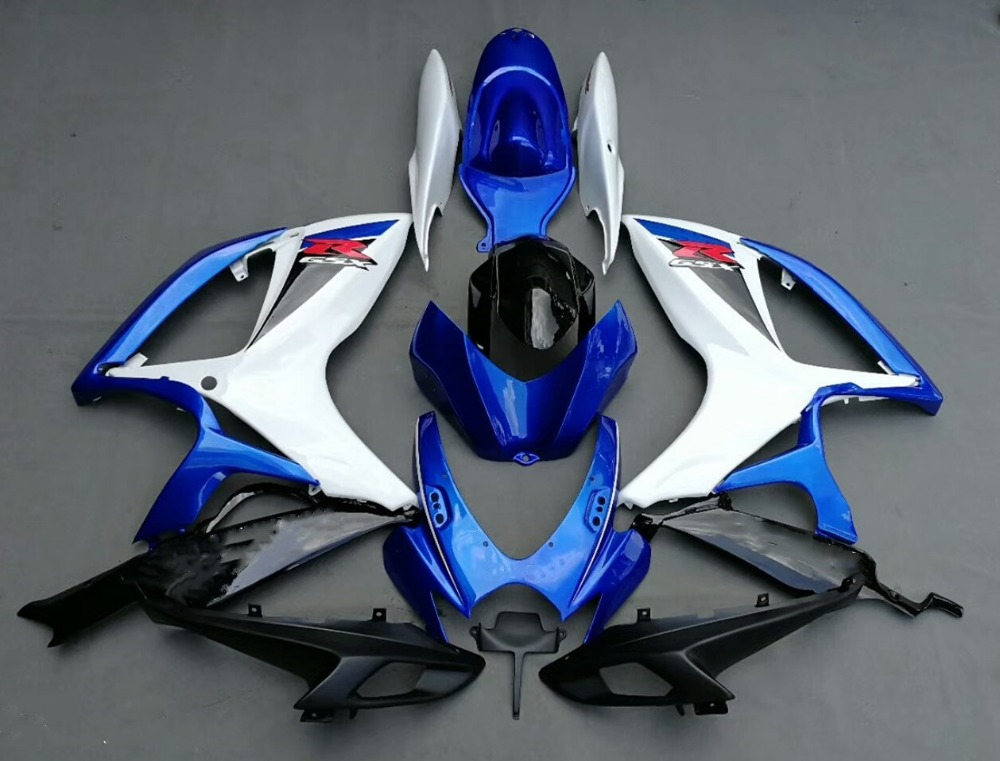 Motorcycle Fairing Kit For Suzuki GSXR600 GSXR750 K6 2006 - 2007 GSXR 600 750 GSX-R 06 07 Bodywork Fairings Blue White UV Paint