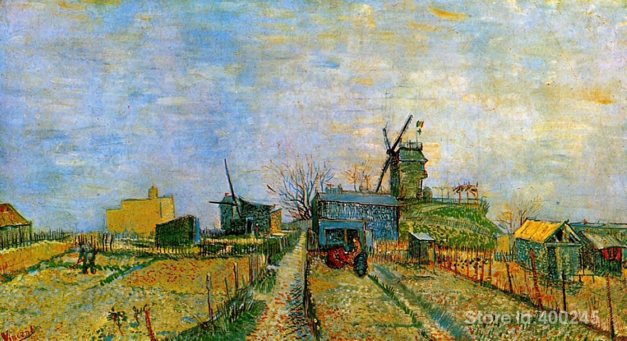 Best Art Reproduction Vegetable Gardens in Montmartre Vincent Van Gogh Painting for sale hand painted High quality