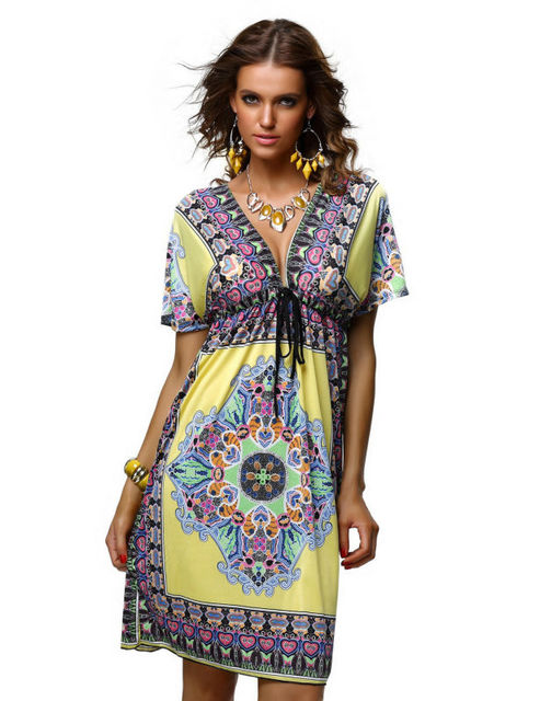 Free Shipping New Fashion Beach Dress For Women Yellow Red White Blue  Colors Available Women Knee 4871d08db94a