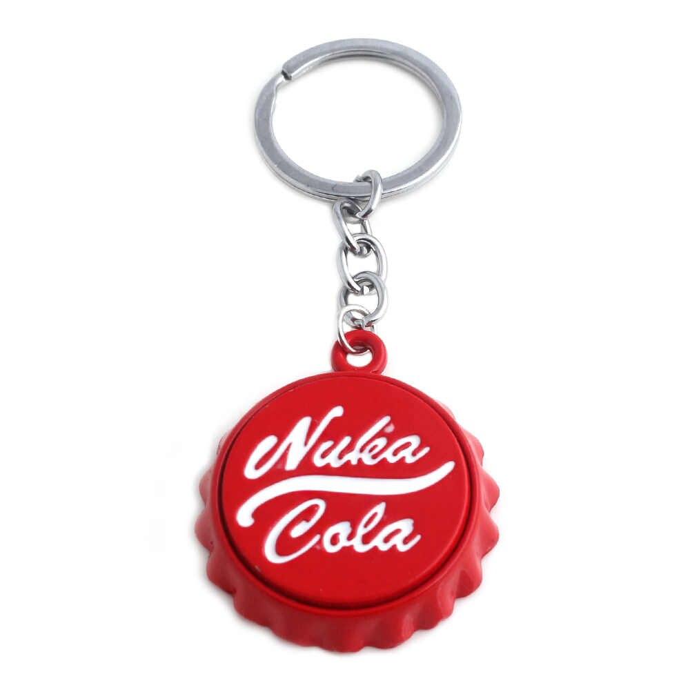 Venda quente nuka cola sinal chaveiro de alta qualidade metal garrafa tampa abridor de garrafa chaveiro masculino feminino jóias presente frete grátis
