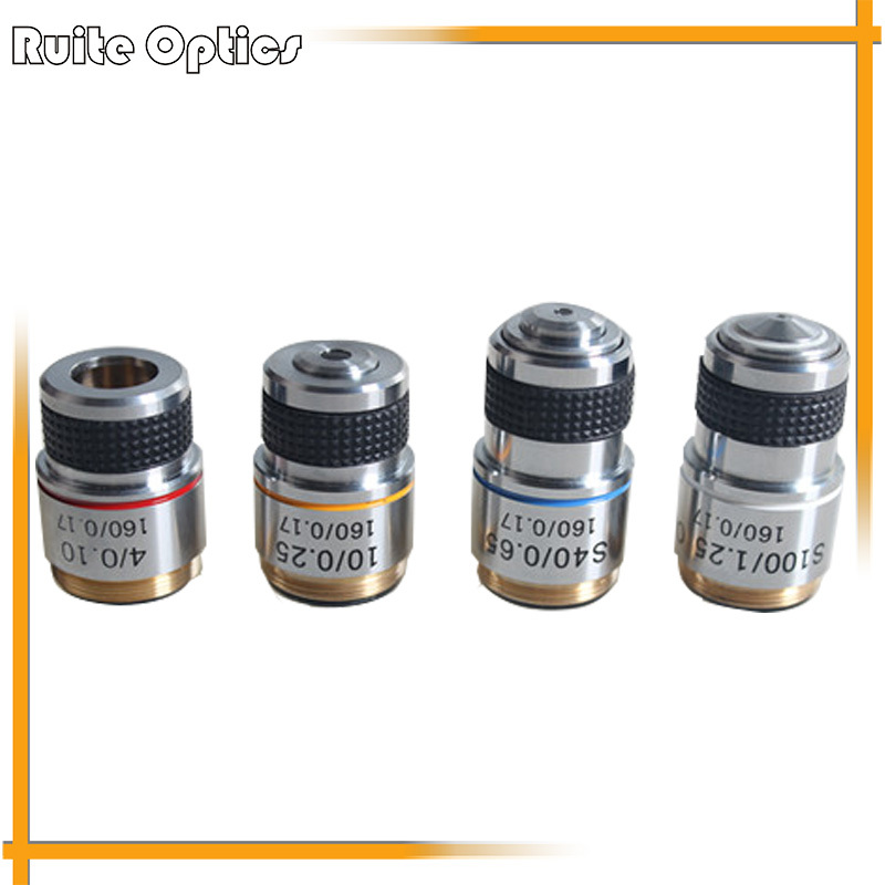 Full Set of 185 composite achromatic objective lens 4x , 10x , 40x, 100x biological microscope objective optical lens brand new microscope achromatic objective lens 4x 10x 40x 100x set free shipping page 2
