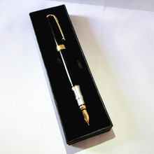 Brand Fountain Pen with black ink or blue  40g/pc kawaii gift box best idea for father free shipping