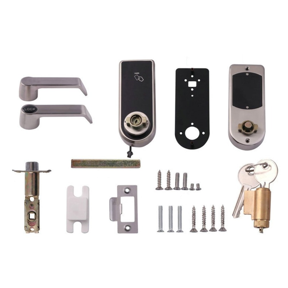 OS8818BLE Smart Touch Screen Bluetooth Electronic Password Door Lock Digital Code Keypad ID Card Keyless Latch Bolt Lock reversible silver smart digital electronic keypad lock keyless door lock with single latch for commercial buildings villas