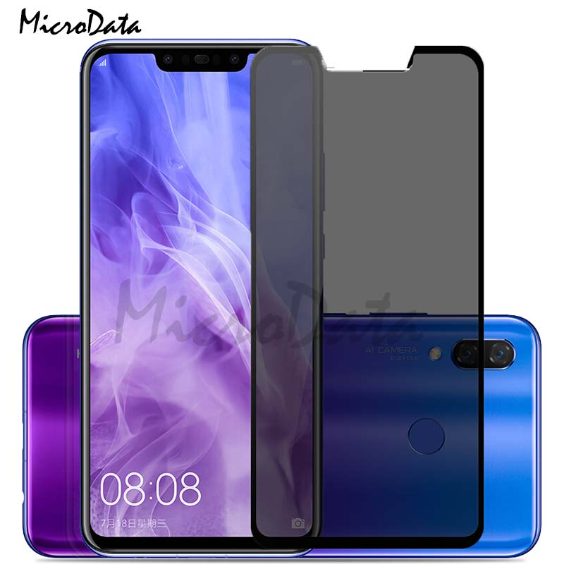 MicroData Privacy Protection Film Tempered Glass For Huawei P Smart Plus / Huawei P Smart  Privacy Screen Protector Anti Spy