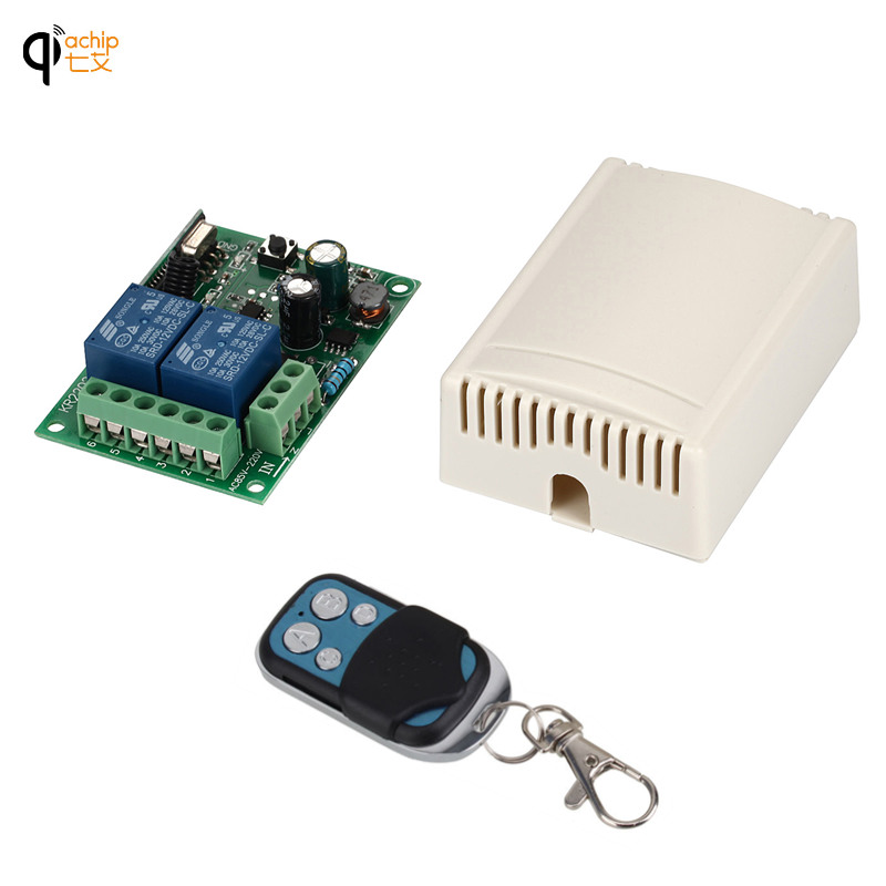 433 Mhz Control remoto inalámbrico Universal AC 85 V ~ 250 V 110 V 220 V 2CH receptor módulo y RF 433 Mhz control remoto