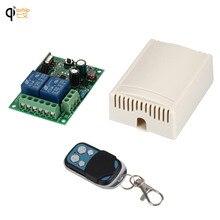 Interruptor de Control remoto inalámbrico Universal, 433 Mhz, CA 85V ~ 250V 110V 220V 2CH, módulo receptor por relé y controles remotos RF 433 Mhz