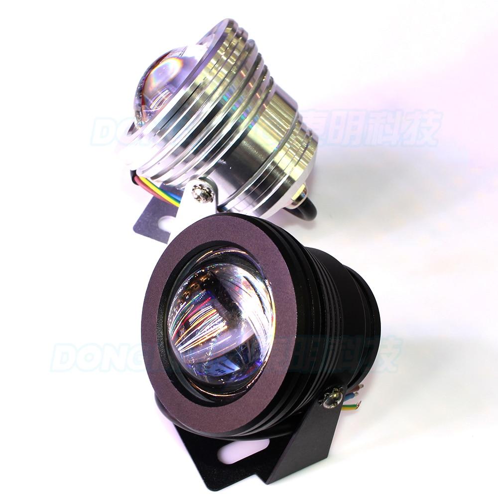 10pcs Silver Cover Ac85-265v Convex Lens Underwater Led Light Rgb Underwater Led Lamp Ip68 10w Pool Lights Lights & Lighting