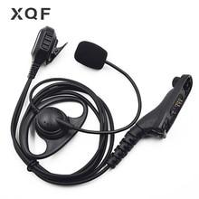 XQF 1 สายหูฟังหูฟัง FBI Boom Mic สำหรับ Motorola วิทยุแบบพกพา DP4400 DP4401 DP4600 DP4601 DP4800 DP4801 Walkie talkie