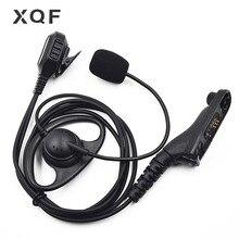 XQF 1 Wire FBI Earpiece Headset Boom Mic for Motorola Portable Radio DP4400 DP4401 DP4600 DP4601 DP4800 DP4801 Walkie Talkie
