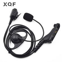 Xqf 1 선 fbi 이어폰 헤드셋 붐 마이크 모토로라 휴대용 라디오 dp4400 dp4401 dp4600 dp4601 dp4800 dp4801 워키 토키