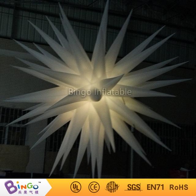 Dia.2.4m estrellas inflables para la decoración del partido decoración de la iluminación de iluminación led intermitente juguete