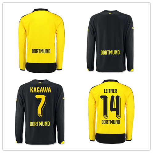 Latest borussia Dortmund in 2016 long sleeve shirt 15 16 BVB borussia  Dortmund Marco REUS field without Angle long sleeved shirt-in Soccer  Jerseys from ... 70950706e5fac