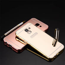 For Samsung Galaxy J8 2018 Case Luxury Protective Gold Aluminum Mirror Back Cover Phone Case For Samsung A8 2018 coque Fundas protective aluminum alloy back case for samsung galaxy s5 silver