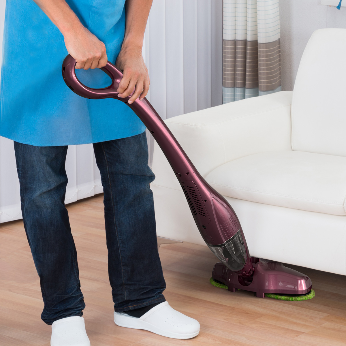 Finether 2 In 1 Electric Mop Sweep Vacuum Cleaner Cordless