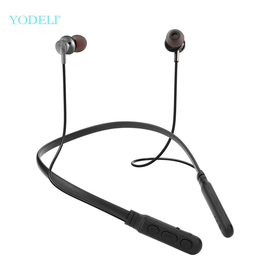 Yodeli Y06 Bluetooth Earphone Wireless Headphones Sports Earbud Neckband Stereo Bluetooth Headset With Mic For Xiaomi All Phone