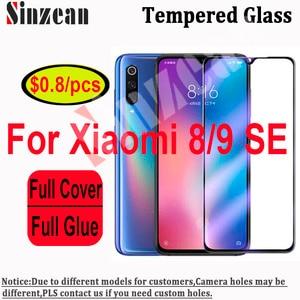Image 1 - Sinzean 25pcs For Xiaomi mi8 SE/lite/8 Pro/8 Youth 2.5D Full Cover Tempered Glass For Xiaomi 9SE Full Glue Screen Protector Film