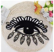 New 1 pieces of clothing, large size sequins, towels, embroidered eyes, applique T-shirts, women's clothing, processing patches,