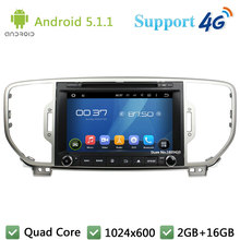 Quad Core 8″ 1024*600 Android 5.1.1 Car Multimedia DVD Player Radio Stereo Screen DAB+ 3G/4G WIFI GPS Map For Kia SPORTAGE 2016