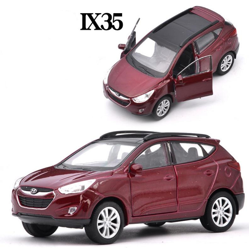 1:36 Scale Hyundai Tucson IX35,alloy Pull Back Car Toy,high Simulation Ix35 Model,open Doors Toy Vehicle,free Shipping