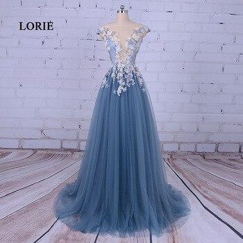 1c561cc3752e2b0 LORIE вечерние платья для женщин, ТРАПЕЦИЕВИДНОЕ ПЛАТЬЕ с цветочным  рисунком, синее платье для выпускного вечера, vestido de festa 2019