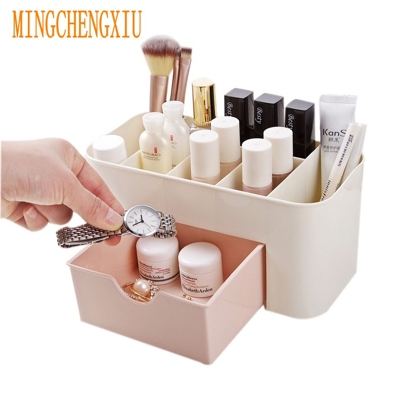 Cosmetic Jewelry Organizer of the Office Storage Drawer Desk Makeup Case Plastic Makeup Brush Box Lipstick Remote Control Holder