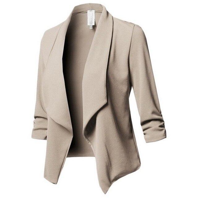 e7b1d42f104d5 LASPERAL Blazer Women Solid Color Suit Long Sleeved Lapel Casual Small Suit  Slim Yards Ladies Blazers Work Wear Jacket Plus Size