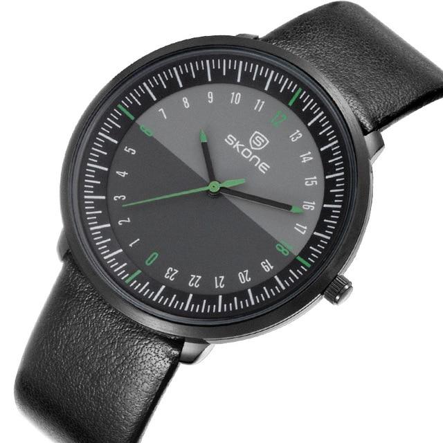 683e7a70e4b Moda Causal Homens Relógio SKONE Luxo PU LEATHER Esporte Militar Do  Exército relógios de Pulso Analógicos