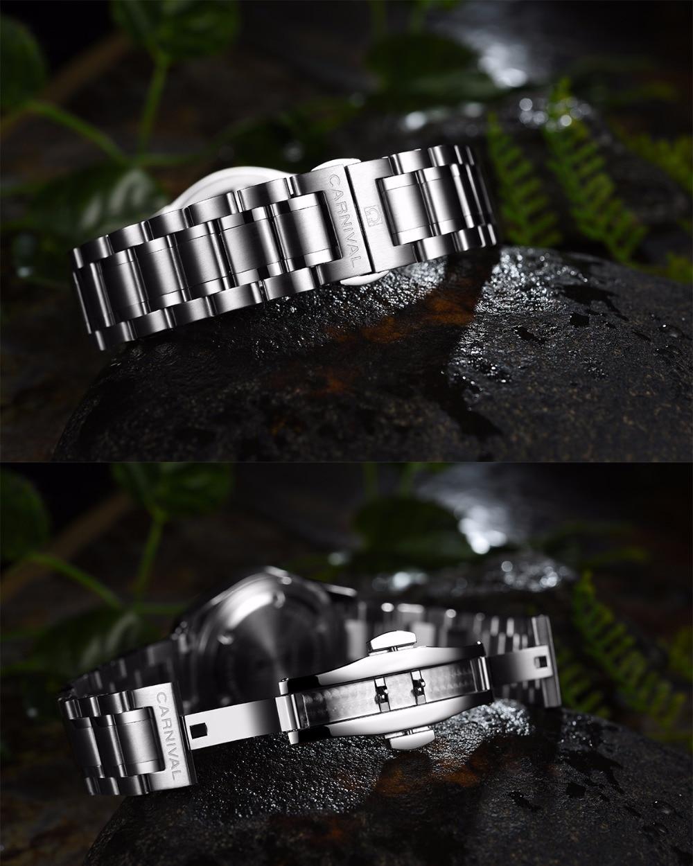 Carnival tritium T25 luminous Double calendar military Switzerland Quartz watch men luxury brand watches waterproof clock 2017 - 4