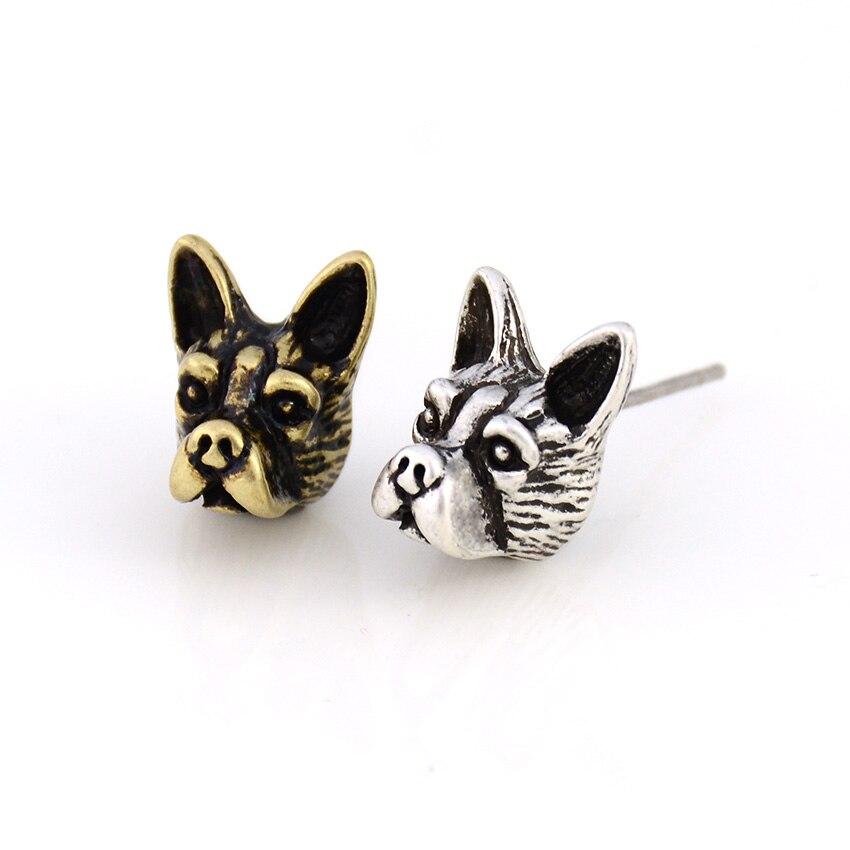 Punk Boston Terrier & French Bulldog Dog Stud Earring Dogs Brincos Love Earrings For Women Jewelry Black Friday Christmas Gift