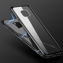 Huawei Mate 20 Lite Case Magnetic Cover For Pro Mate20 Metal Frame + Tempered Glass Business