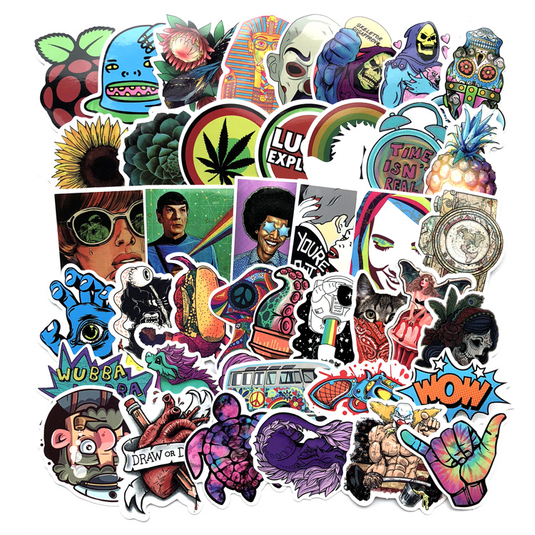 66Pcs/Lot Alien Waterproof 2019 Stickers Toy For Laptop Skateboard Luggage Decal Funny Stickers For Kids
