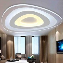 Adjustable 3 Color Triangle Shaped 20CM / 40CM LED E26 Surface Mount Ceiling Lamp Night Living Room Home Decor Indoor Lighting