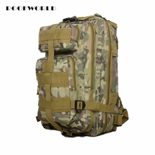 11 Color Travel Backpack Waterproof Oxford Camouflage 3P Backpack Anti-theft Tape Tactical Shoulder Bag for Outdoor Sports