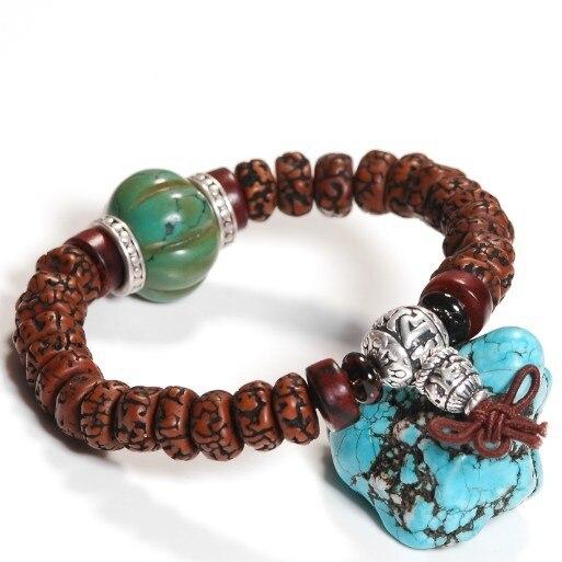 Handmade Tibetan Silver OM Beads Bracelet Bodhi Mala Bracelet Bodhi Beaded Bracelet