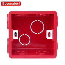 86 Cassette Wall Plate Box For 86 Type PVC Wall Plate Switch And Socket Stair step Light Lamp Lighting цена