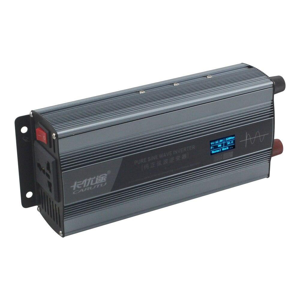 Doskonałą utrzymania 500W czysty sinus falownik falowy 12V do AC 220V z winy skłania wyświetlacz odwrotnej ochrony drutu itp