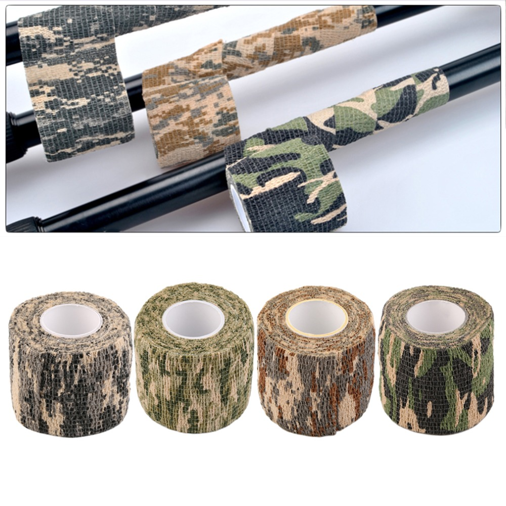 2016 New Hot 1 Roll Men Army Adhesive Camouflage Tape for Outdoor Hunting Stealth Wrap 5cmx10m bionic camouflage wrap outdoor hunting shooting tape military accessory constructed by non woven fabrics