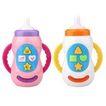 Детские игрушки, детские звуковые бутылки с молоком, игрушки, безопасный музыкальный светильник, бутылка с молоком, музыкальные Обучающие Развивающие игрушки для детей, инструмент для кормления