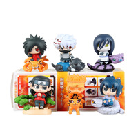 Chanycore 8CM NARUTO 6PCS/SET Kakashi Hatake Uzumaki Naruto Orochimaru Sasuke Uchiha Senju PVC Action Figure Toy Gifts