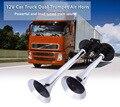 Universal 150DB Car Air Horn 12V Car Truck Boat Dual Trumpet Train Loud Sound Air Horn Compressor Claxon Horns Super Lound