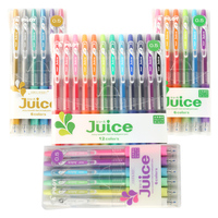 Japan PILOT Juice 1 Set 6 12 Colors Roller Ball Point Gel Ink Pen Water Based