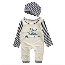 Baby Boys Newborn Cotton Rompers Hats Jumpsuit Outfit Set Kids Clothes New