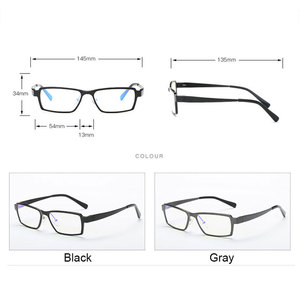 Image 2 - 202 Optical Eyeglasses Frame for Men Eyewear Prescription Glasses Full Rim Man Spectacles Alloy Frame Eyeglasses