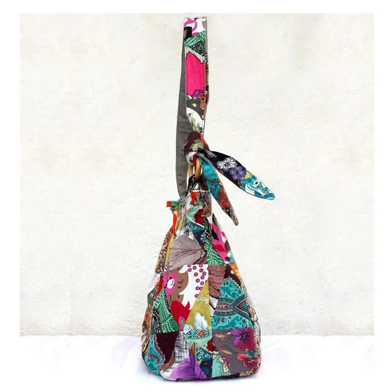 Grandes Sacos Saco de Ombro Das Mulheres Crossbody Bag Lady Bohemian Hippie Hipster Menina Único Patchwork de Algodão Da Lona do Saco da Bolsa das Mulheres