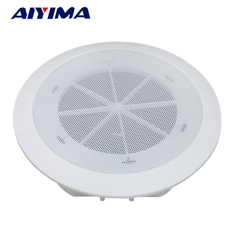 Aiyima 1pc 5inch Ceiling Wall Audio Speaker 3w Background