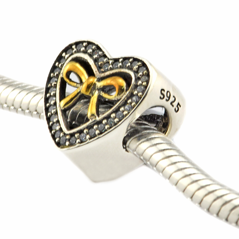 e27865c4d Fits Pandora Charms Bracelets Abstract Spacer Beads with 14K Real Gold 925  Sterling Silver Jewelry Free Shipping