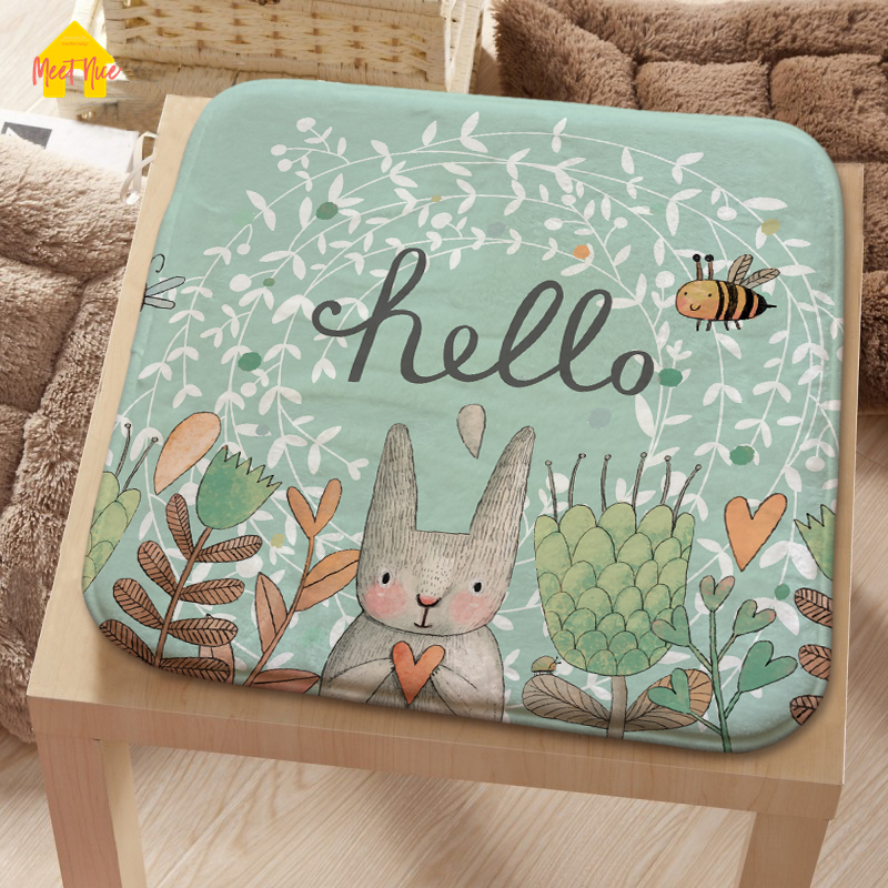 Meet Nice Flannel Seat Pad Patio Solid 4 Colors Paiting Garden Square Indoor Dining On Office Chair Foam New Cushion 2018Hot
