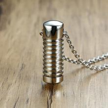 Perfume Vial Necklace Cylinder Pill Pendant Jewellery Secret